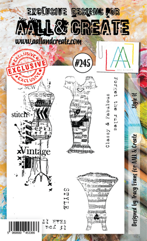 AALL & Create - Clear Stamp Set - #245 - A6 - Style It
