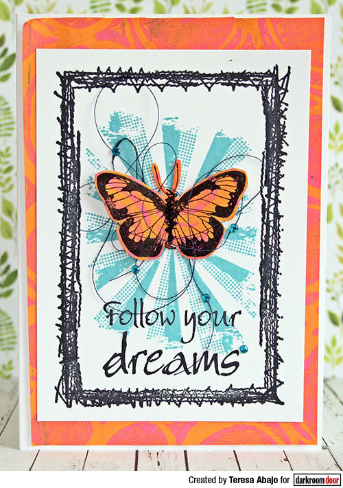 Darkroom Door - Texture Stamp - Sunshine - Red Rubber Cling Stamp