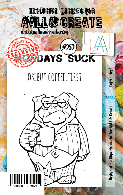 AALL & Create - Clear Stamp Set - #252 - A7 - Coffee First