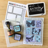 Darkroom Door - Mixed Boxes - Red Rubber Cling Stamps