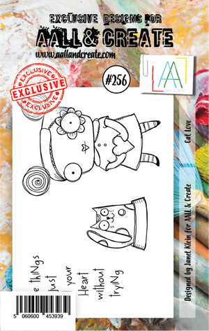 AALL & Create - Clear Stamp Set - #256 - A7 - Cat Lover
