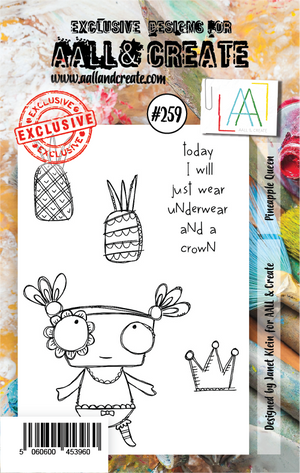 AALL & Create - Clear Stamp Set - #259 - A7 - Pineapple Queen