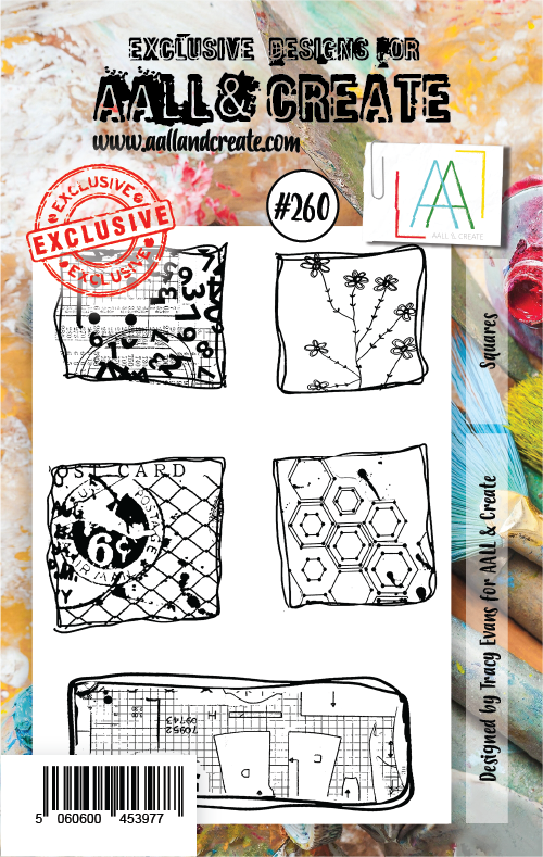 AALL & Create - Clear Stamp Set - #260 - A7 - Squares