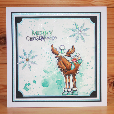 Hobby Art Stamps - Clear Polymer Stamp Set - A5 - It Moose Be Christmas