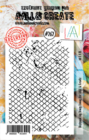 AALL & Create - Clear Stamp Set - #262 - A7 - Mesh