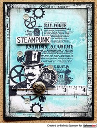 Darkroom Door - Texture Stamp - Gazette - Red Rubber Cling Stamp