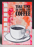 Darkroom Door - Coffee Time - Red Rubber Cling Stamps