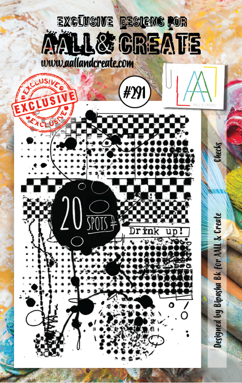 AALL & Create - Clear Stamp Set - #291 - A7 - Checks - Bipasha BK