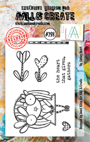 AALL & Create - Clear Stamp Set - #298 - A7 - The Giving Heart - Janet Klein
