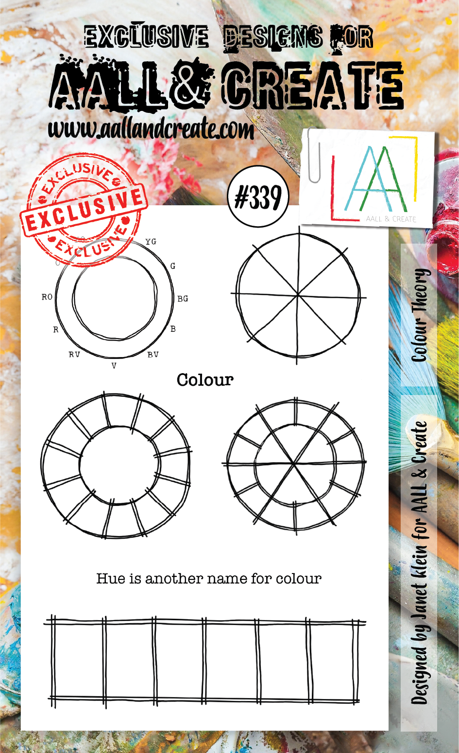 AALL & Create - Clear Stamp Set - #339 - A6 - Colour Theory - Janet Klein
