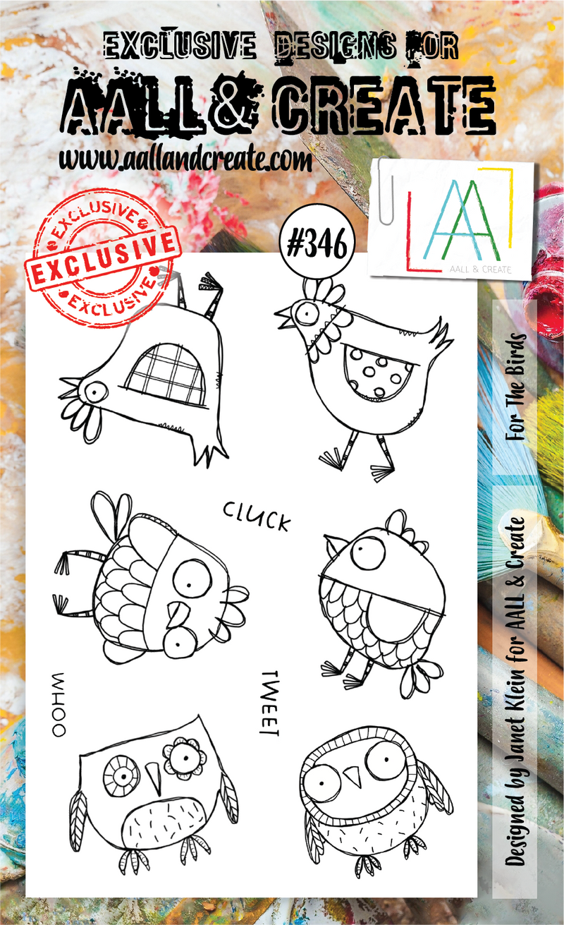 AALL & Create - Clear Stamp Set - #346 - A6 - For the Birds - Janet Klein