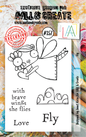 AALL & Create - Clear Stamp Set - #357 - A7 - Fly - Janet Klein