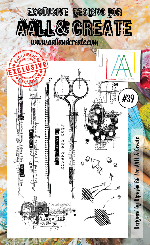 AALL & Create - Clear Stamp Set - #39 - Artist Tools