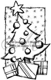 Magenta - Under the Tree - Rubber Cling Stamp