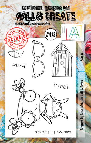 AALL & Create - Clear Stamp Set - #423 - A7 - Seaside - Janet Klein