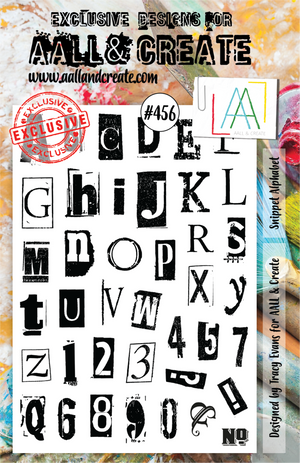 AALL & Create - Clear Stamp Set - A5 - #456 - Snippet Alphabet - Tracy Evans