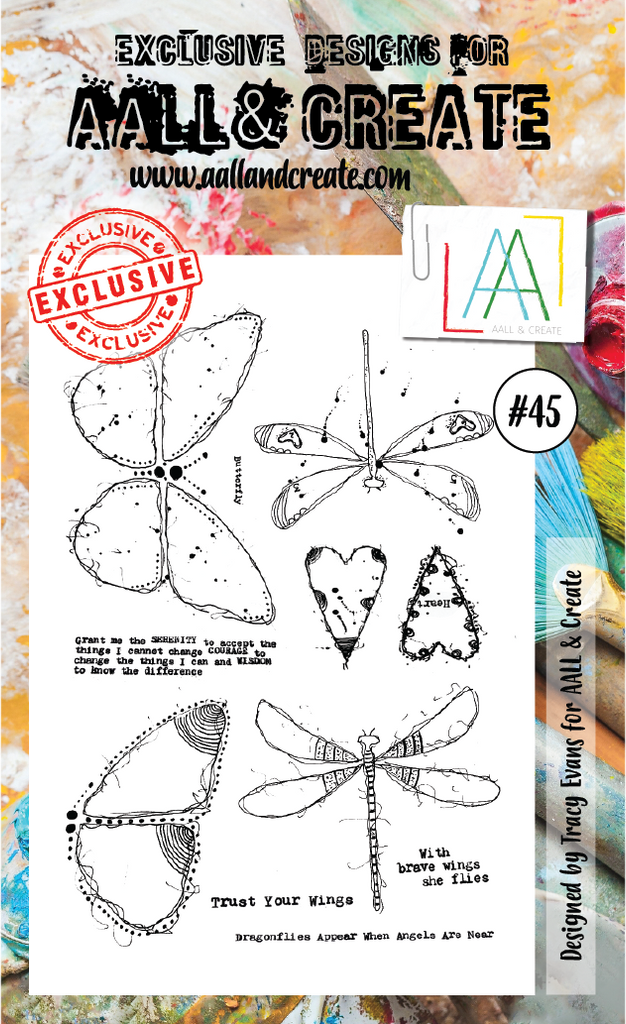 AALL & Create - Clear Stamp Set - #45 - Brave Wings