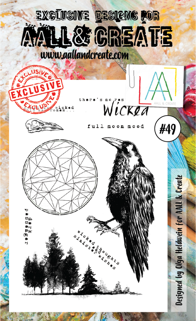 AALL & Create - Clear Stamp Set - #49 - Raven
