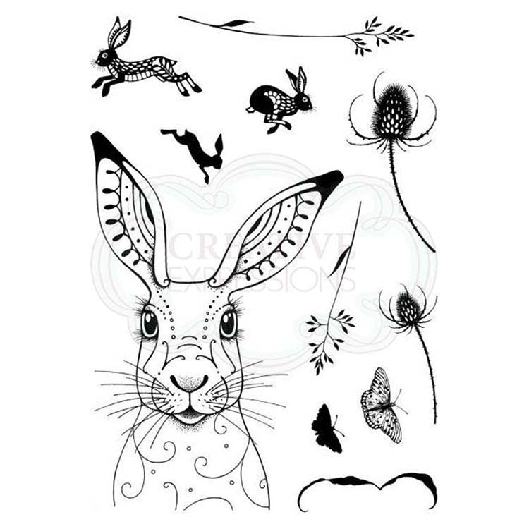 Pink Ink Designs - Clear Photopolymer Stamps - Hare