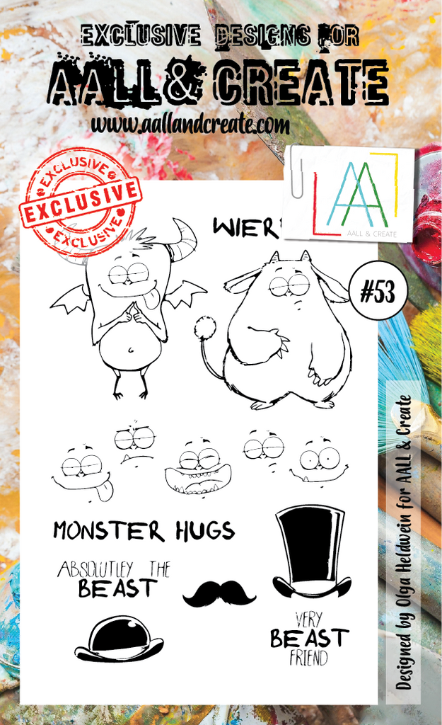 AALL & Create - Clear Stamp Set - #53 - Monsters