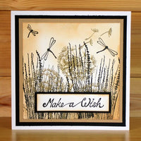 Hobby Art Stamps - Clear Polymer Stamp Set - A5 - Dandelion Wishes