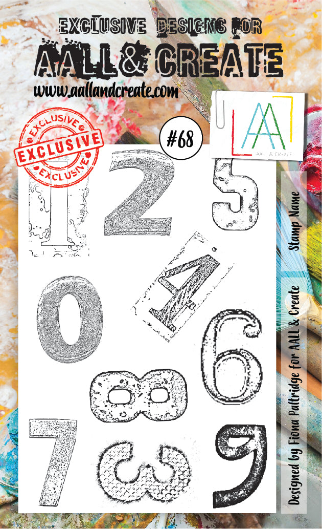 AALL & Create - Clear Stamp Set - #68 - House Numbers