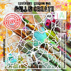 AALL & Create - Stencil - #68 - Ice Cracks