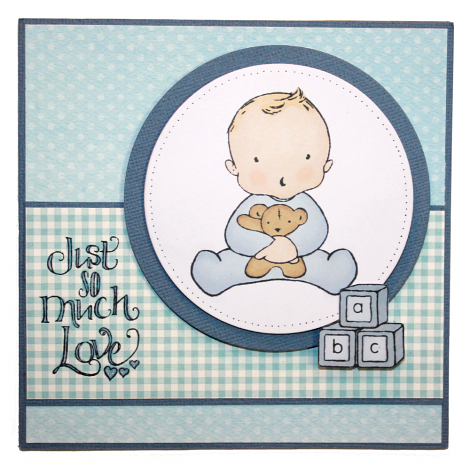 Hobby Art Stamps - Clear Polymer Stamp Set - New Baby