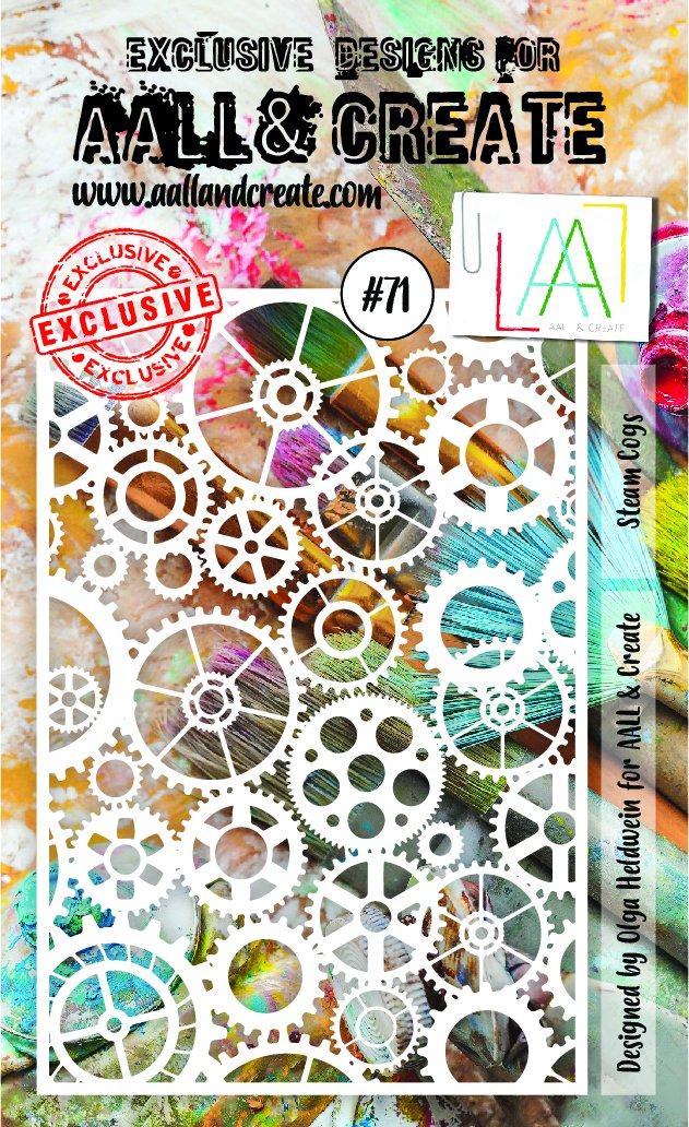 AALL & Create - Stencil - A6 - #71 - Steam Cogs