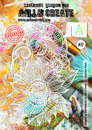 AALL & Create - Stencil - A4 - #77 - Sunflower Power