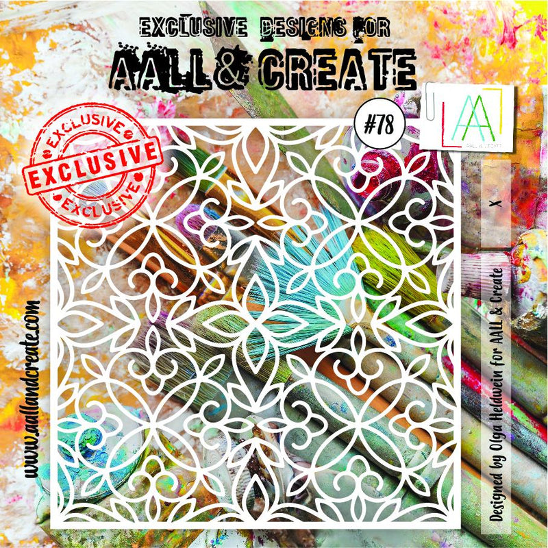 AALL & Create - Stencil - 6x6 - #78 - Cloister Grille