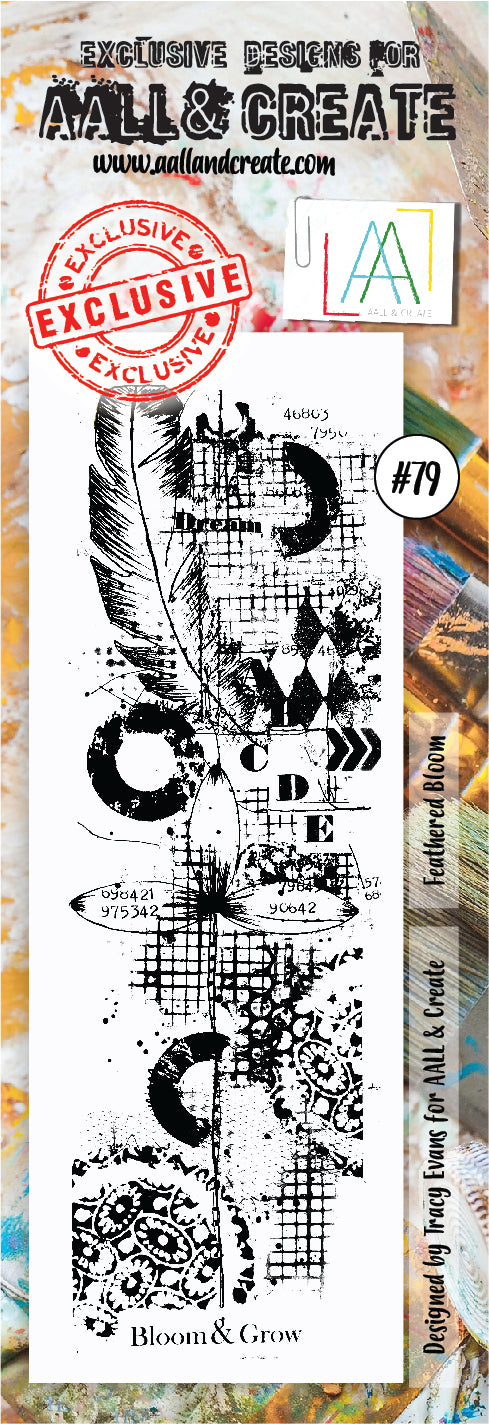AALL & Create - Clear Border Stamp Set - #79 - Feather Bloom