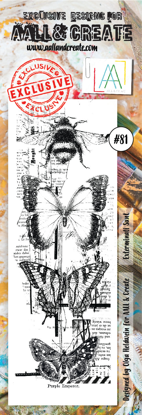 AALL & Create - Clear Border Stamp - #81 - Exterminati Sunt - Butterflies
