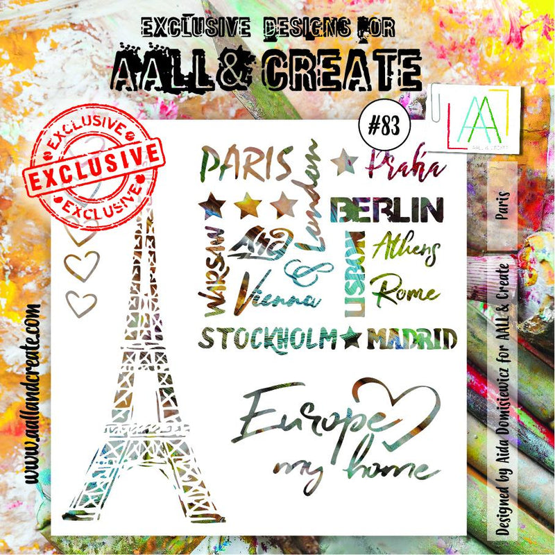 AALL & Create - Stencil - #83 - Paris