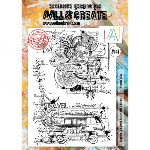 AALL & Create - Clear Stamp Set - #141 - A4 - Tropical Vibes