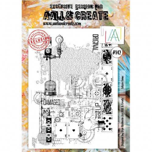 AALL & Create - Clear Stamp Set - #142 - A4 - Edison Game