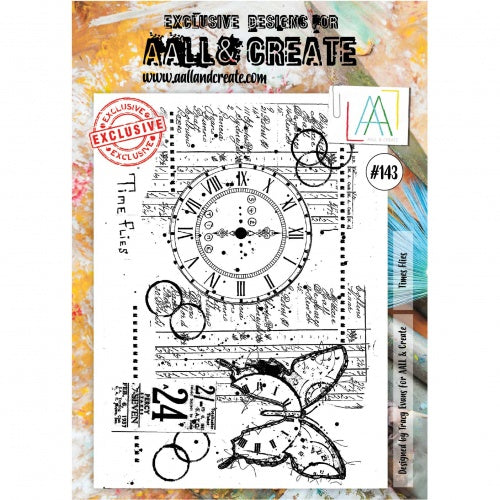 AALL & Create - Clear Stamp Set - #143 - A4 - Time Flies