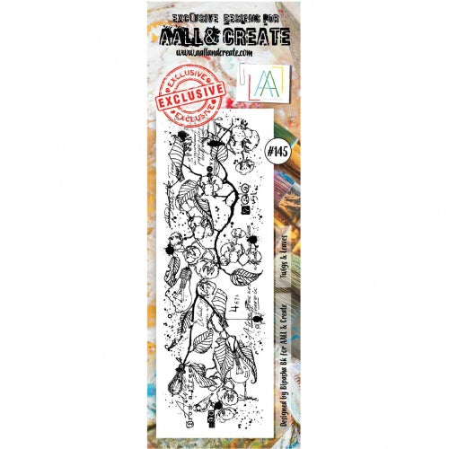 AALL & Create - Clear Border Stamp Set - #145 - Twigs & Leaves