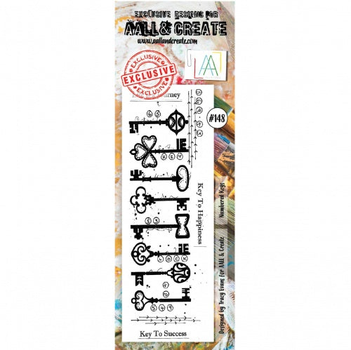AALL & Create - Clear Border Stamp - #148 - Numbered Keys