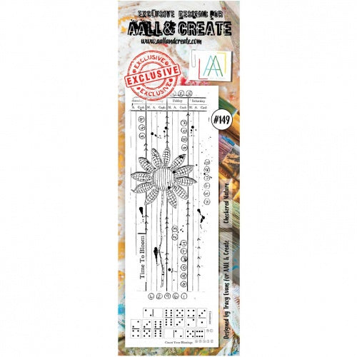 AALL & Create - Clear Border Stamp - #149 - Checkered Nature