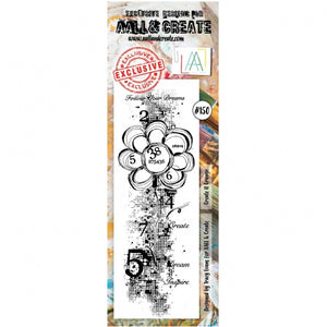 AALL & Create - Clear Border Stamp - #150 - Create It Grunge