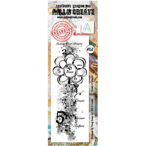 AALL & Create - Clear Border Stamp Set - #150 - Create It Grunge
