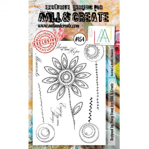 AALL & Create - Clear Stamp Set - #154 - Sketched & Doodled Moments