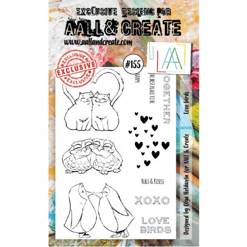 AALL & Create - Clear Stamp Set - #155 - Love Birds
