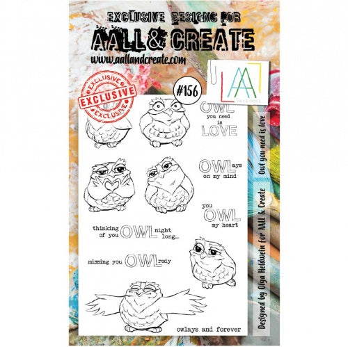 AALL & Create - Clear Stamp Set - #156 - Owl You Need is Love