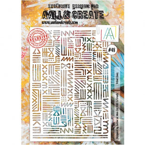 AALL & Create - Stencil - A4 - #48 - Tribal Lines