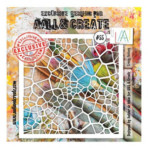 AALL & Create - Stencil - #55 - Crazy Paving