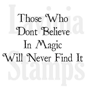 Lavinia - Believe in Magic - Clear Polymer Stamp