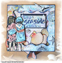 Crafty Individuals - Unmounted Rubber Stamp - 278 - Beside the Seaside