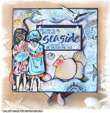 Crafty Individuals - Unmounted Rubber Stamp - Beside the Seaside